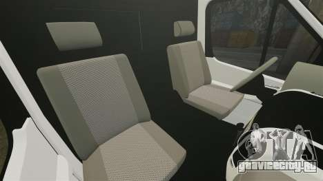 Mercedes-Benz Sprinter 211 CDI Police [ELS] для GTA 4 вид изнутри