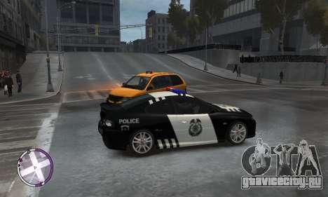 Holden Monaro CV8-R Police для GTA 4 вид справа