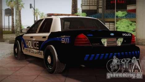 Ford Crown Victoria Police Interceptor 2009 для GTA San Andreas вид справа