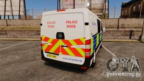 Mercedes-Benz Sprinter 211 CDI Police [ELS] для GTA 4 вид сзади слева