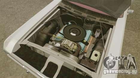 Dodge Polara 1971 для GTA 4 вид изнутри