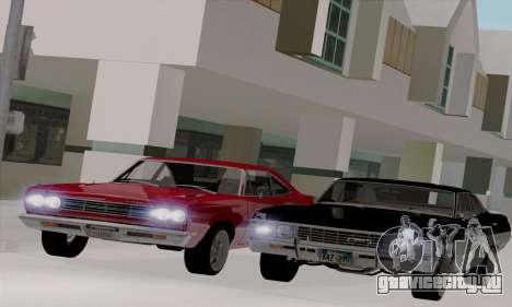 Plymouth Road Runner 383 1969 для GTA San Andreas вид сзади