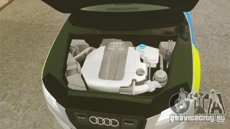 Audi S4 2013 Metropolitan Police [ELS] для GTA 4 вид изнутри