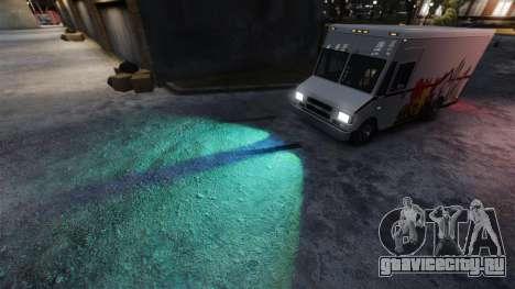 Зелёные свет фар для GTA 4 второй скриншот