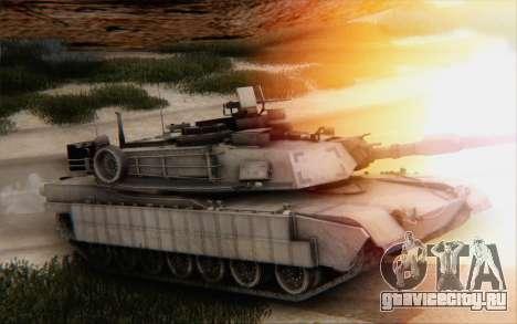 M1A2 Abrams для GTA San Andreas вид сзади