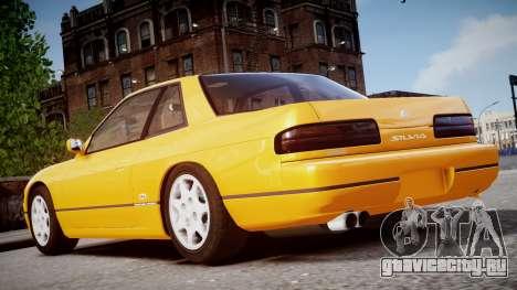 Nissan 240sx Сoupe 1992 для GTA 4 вид сзади слева