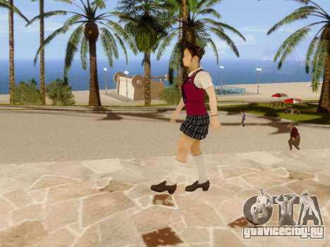 Hanako для GTA San Andreas восьмой скриншот