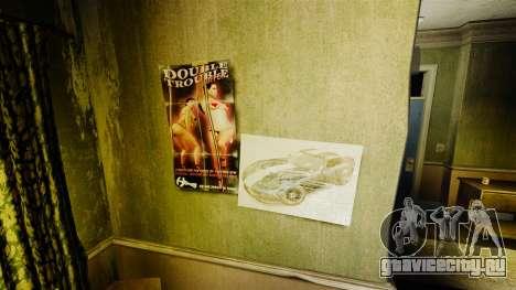 Новые постеры в квартире Романа для GTA 4