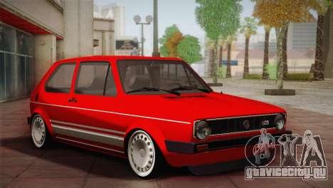 Volkswagen Golf MK1 Red Vintage для GTA San Andreas