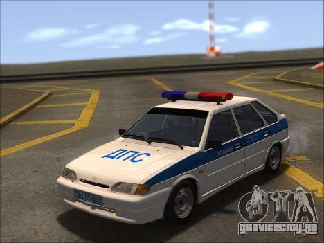 ВАЗ 2114 Полиция ДПС для GTA San Andreas вид сбоку