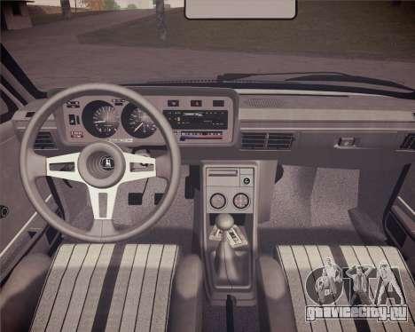 Volkswagen Scirocco S (Typ 53) 1981 HQLM для GTA San Andreas вид сзади