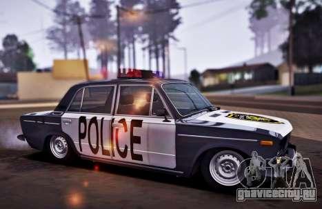 ВАЗ 2106 Police для GTA San Andreas вид сзади слева