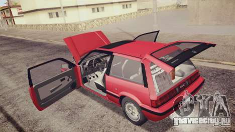 Honda Civic Si 1986 HQLM для GTA San Andreas вид снизу