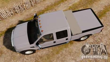 Ford F-250 Super Duty Police Unmarked [ELS] для GTA 4 вид справа