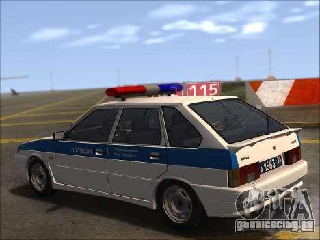 ВАЗ 2114 Полиция ДПС для GTA San Andreas вид сверху