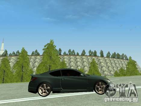 Hyundai Genesis Coupe для GTA San Andreas вид слева