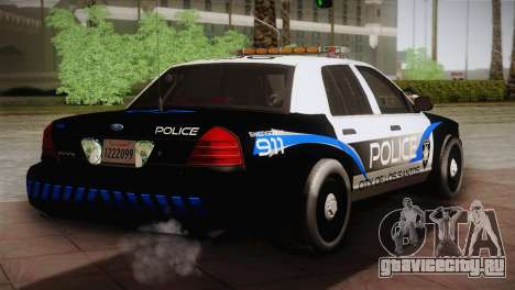 Ford Crown Victoria Police Interceptor 2009 для GTA San Andreas вид сзади слева