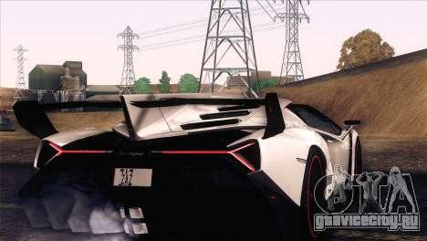 Lamborghini Veneno Roadster LP750-4 2014 для GTA San Andreas вид изнутри