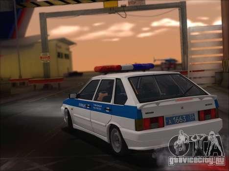 ВАЗ 2114 Полиция ДПС для GTA San Andreas вид изнутри