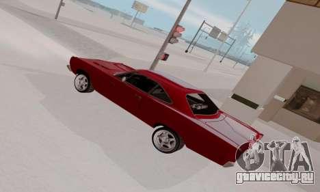 Plymouth Road Runner 383 1969 для GTA San Andreas двигатель