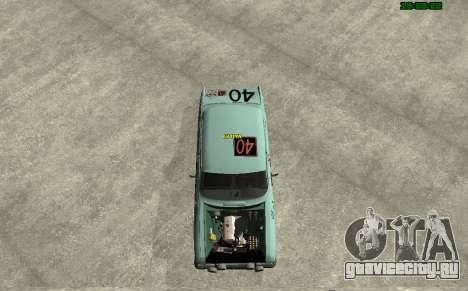 Москвич 412 Ралли для GTA San Andreas вид сзади слева