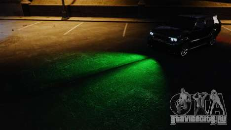 Зелёный свет фар для GTA 4