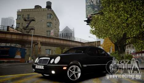 Mercedes-Benz E280 Beta для GTA 4 вид сзади