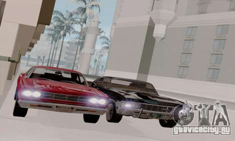 Plymouth Road Runner 383 1969 для GTA San Andreas вид изнутри