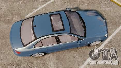 Mercedes-Benz C63 AMG 2013 для GTA 4 вид справа
