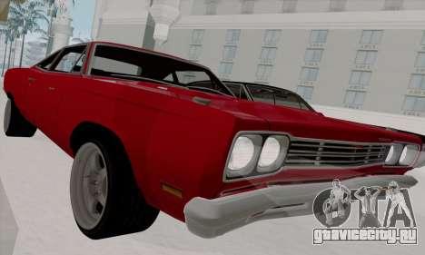 Plymouth Road Runner 383 1969 для GTA San Andreas вид сбоку