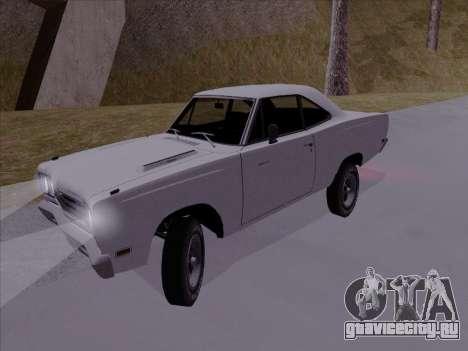 Plymouth Road Runner 383 1969 для GTA San Andreas вид сзади слева