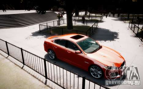Jaguar XF-R 2012 v1.1 для GTA 4 вид сзади