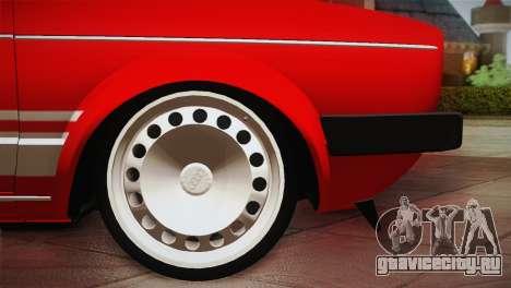Volkswagen Golf MK1 Red Vintage для GTA San Andreas вид изнутри