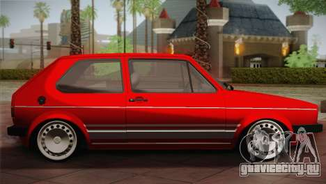 Volkswagen Golf MK1 Red Vintage для GTA San Andreas вид слева