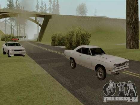 Plymouth Road Runner 383 1969 для GTA San Andreas колёса