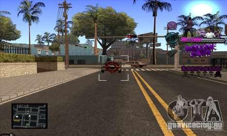 C-HUD Ballas Gang для GTA San Andreas пятый скриншот