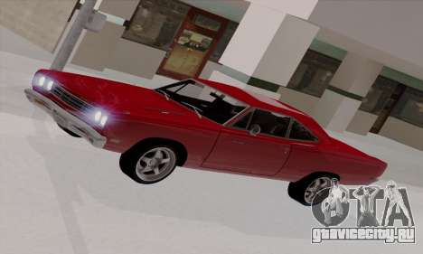 Plymouth Road Runner 383 1969 для GTA San Andreas салон