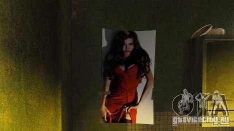 Новые постеры в квартире Романа для GTA 4 четвёртый скриншот