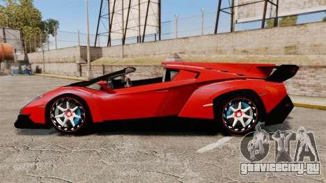 Lamborghini Veneno Roadster LP750-4 2014 для GTA 4 вид слева