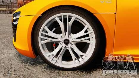 Audi R8 V10 plus Coupe 2014 [EPM] [Update] для GTA 4 вид сзади