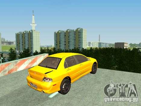 Mitsubishi Lancer  Evolution для GTA San Andreas вид сзади слева