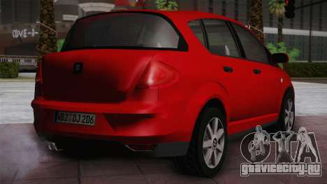 Seat Toledo 1.9TDi 2006 для GTA San Andreas вид сзади слева