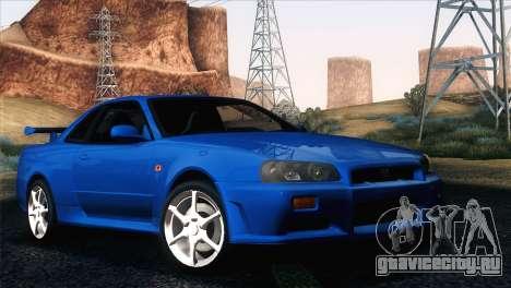 Nissan Skyline GT-R R34 V-Spec для GTA San Andreas