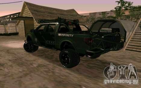 Ford F150 Raptor Unique Edition для GTA San Andreas вид слева