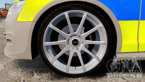 Audi S4 2013 Metropolitan Police [ELS] для GTA 4 вид сзади