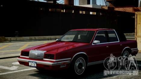 Chrysler New Yorker 1988 для GTA 4 вид изнутри