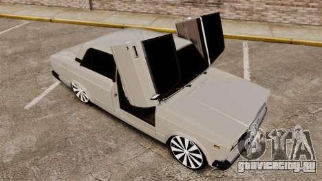 ВАЗ-2107 Жигули для GTA 4 вид снизу