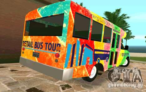 Ford E350 Shuttle Bus для GTA San Andreas вид сзади слева