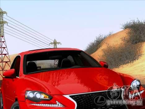 Lexus IS350 2014 F-SPORT для GTA San Andreas вид сзади