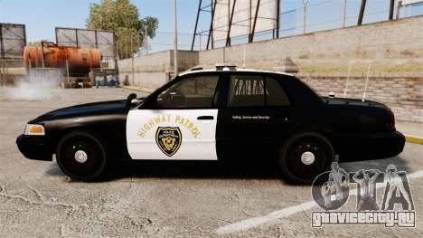 Ford Crown Victoria 2008 LCHP [ELS] для GTA 4 вид слева